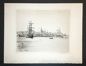 Eugene-Bejot-Original-Etching-034-St-Malo-034-Signed-Edn-of-100