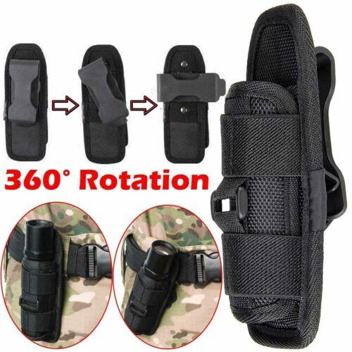 Portable Flashlight Pouch Holster Belt Carry Case Holder with 360 DegreesRotat