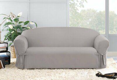Sure Fit Designer Twill Sofa Slipcover cream natural color slip cover