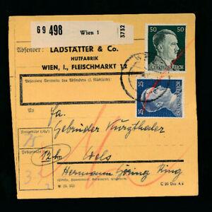 Paket-Karte 1944 aus Wien 1 (H48)