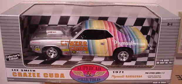 1971 Crazee Cuda Lee Smith Hemi Supercars  3 1:18 Ertl American Muscle 29274