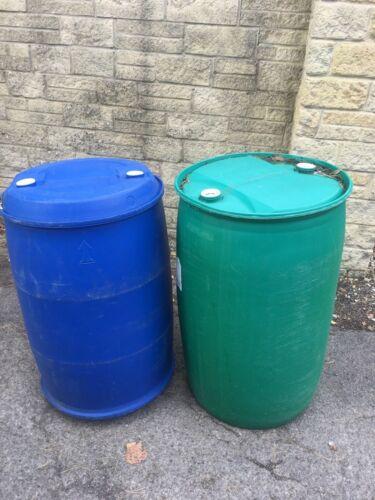 USED 45 Gallon Barrel Compost bin 200L Plastic Drum Water Bowser