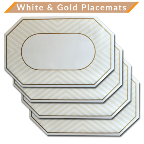 Green NEW Set of 6 Vinyl Placemats Place Mats Table Mats Burgundy White Black