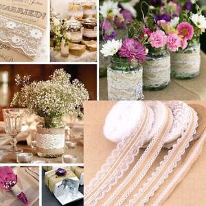 2M-Burlap-Ribbon-Lace-Trim-Vintage-Wedding-Party-Event-Centerpieces-Decoration