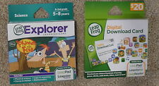 NEW LeapFrog Leappad PHINEAS AND FERB Learning Game + $20 Digital Download Card