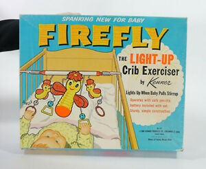 Vintage-Firefly-The-Light-Up-Crib-Exerciser-by-Kenner-1960-Baby-Crib-Toy