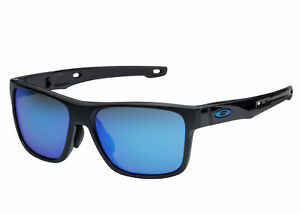 Oakley Crossrange Sunglasses Black Prizm Sapphire 9371-1057 Asian Fit OO9371