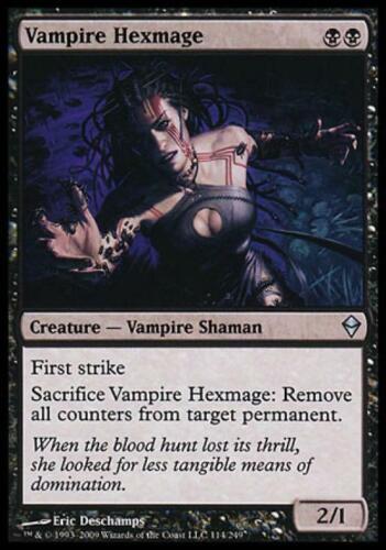 Vampire Hexmage Near Mint Normal English Magic Card Zendikar MTG TCG