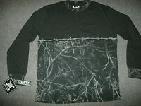 Mens Swat Long Sleeve Shirt S L Black Camo Harvest Moonshine Barb Wire Waist