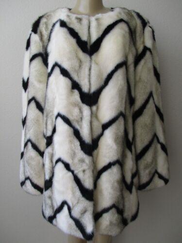 Elfenben Dennis Nwt Coat Faux Collection Sz By Platinum Sort Basso Fur L wwnCR1xq