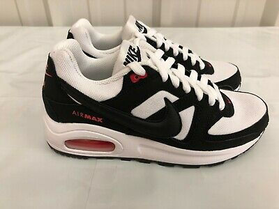 Nike Air Max Command Flex (GS) White Black Orange running 844346 100 | eBay