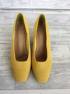 Ladies Yellow suede M\u0026S Collection wide