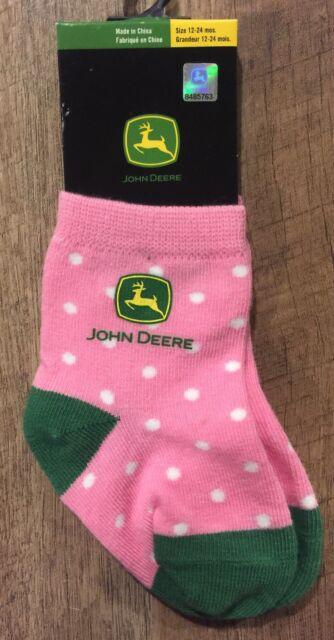 John Deere  infant socks Pink and Green Blended Cotton 12-24 Months