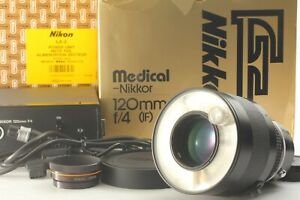 Tested!{MINT w/Box} Nikon Medical Nikkor 120mm F4 IF + LA-2 Power Unit JAPAN 125