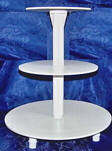 tortenst nder 3 st ckig hochzeit etagere inkl 3 tortenspitzen wei neu ebay. Black Bedroom Furniture Sets. Home Design Ideas