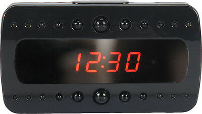 BLACK PEARL NIGHT VISION SPY CLOCK VIDEO CAMERA 1080p FULL HD MOTION DETECTION