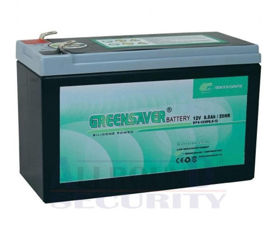 GrünSAVER Silikon Blei Akku 12V 8,5Ah/20Hr Batterie Zyklenfest für 7-8-9Ah