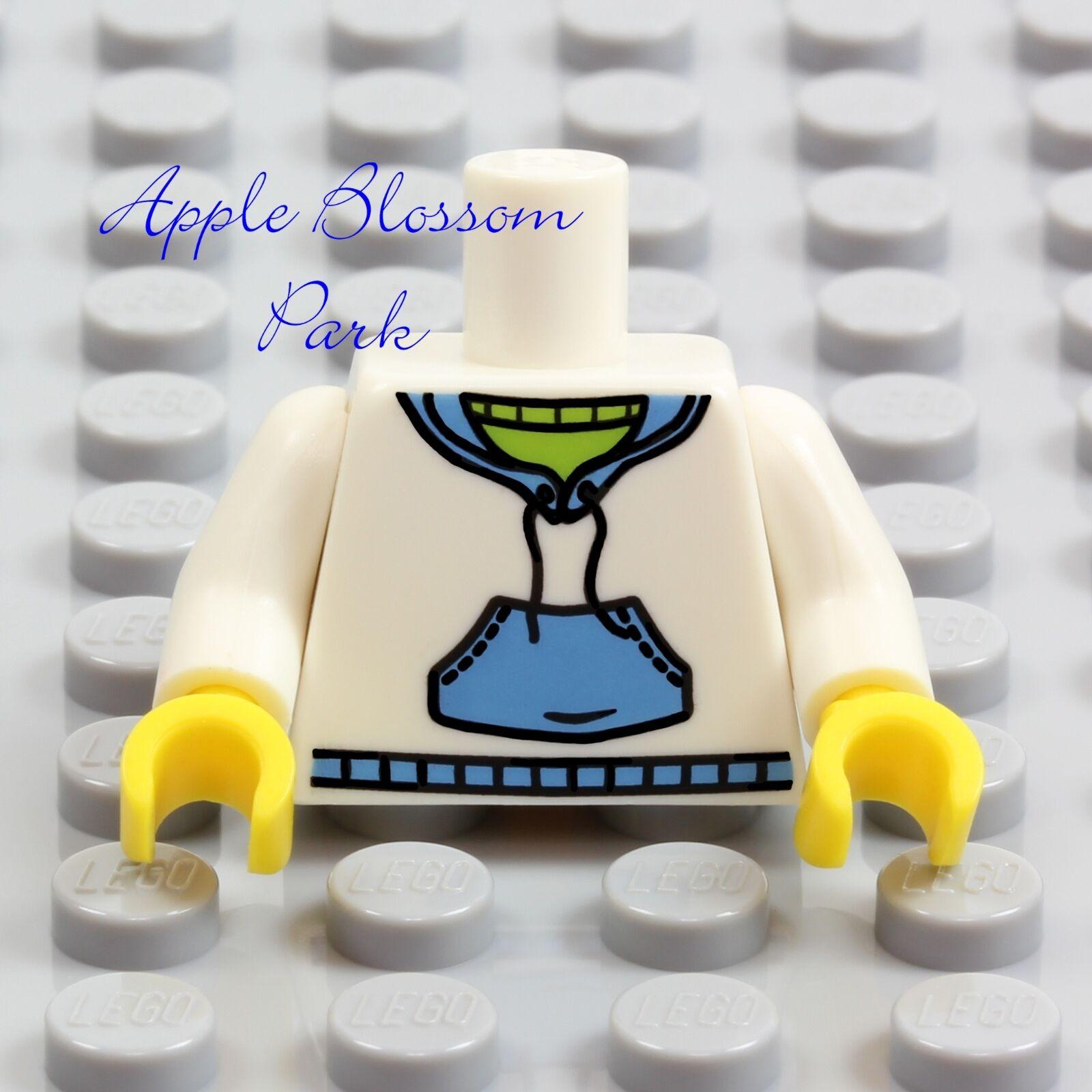 LEGO Minifigure Torso white Female Shirt Race Bib athlete sports 20-11