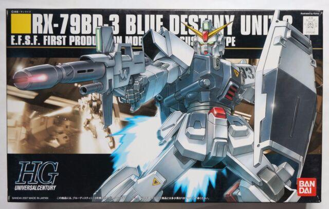 Water Decal Sticker for Bandai HG UC 1//144 RX 79BD 1 2 3 Blue Destiny Unit EXAM