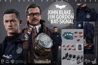 "Hot Toys 1/6 Scale 12"" Batman John Blake & Jim Gordon with Bat Signal 902303"