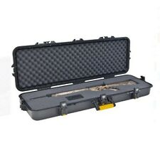 "Portable Gun Storage Case 42"" Rifle Hard Safe Lock Customize Box Carry Hunting"