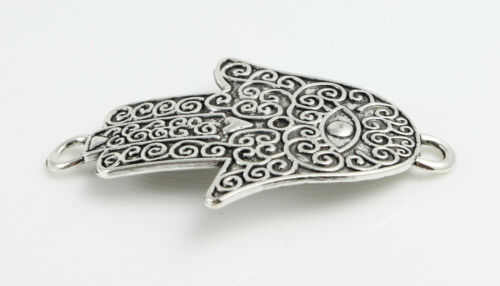 2 Verbinder Hamsa Herz antik silber khamsa armband herstellen hand der fatima