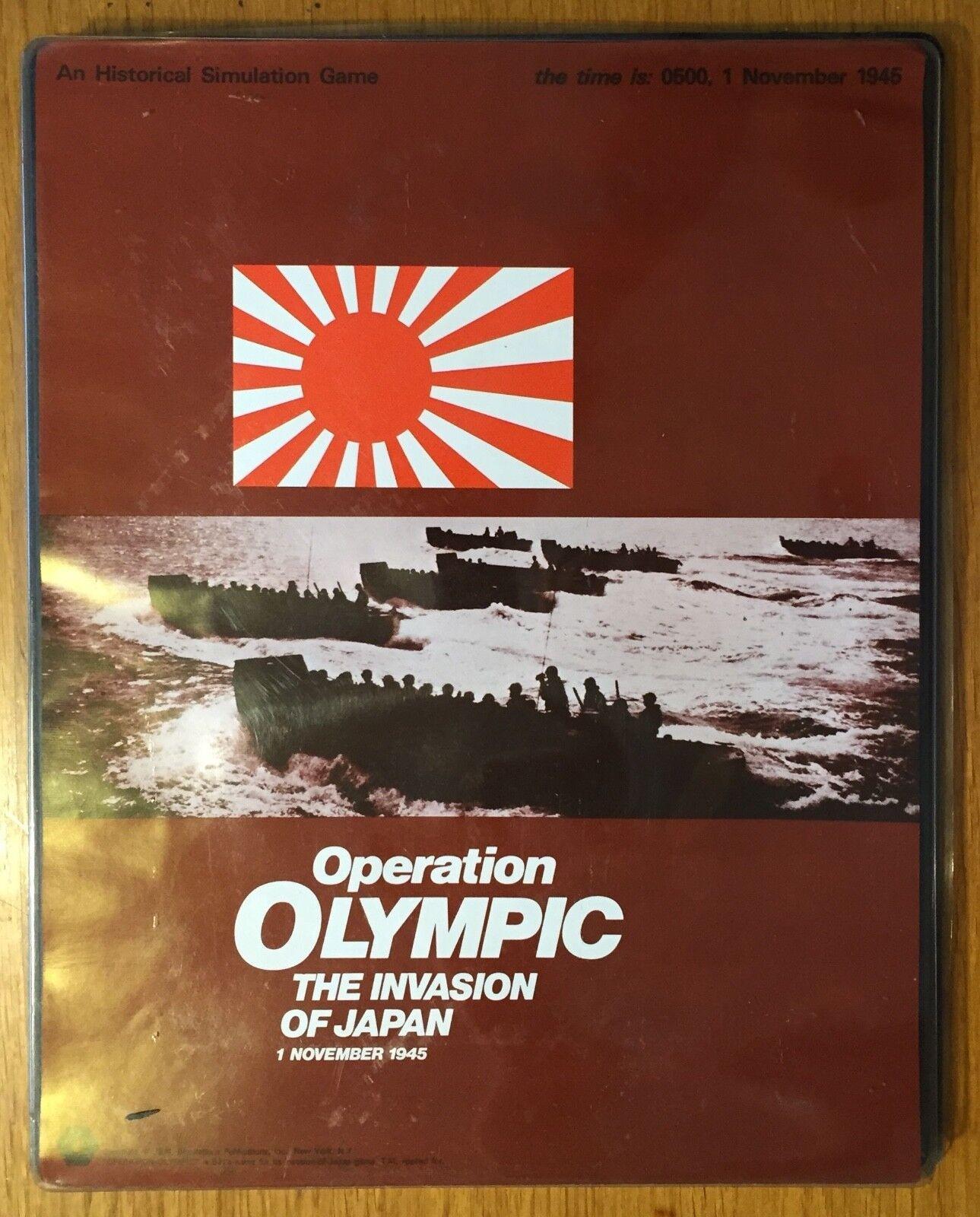 Operation Olympic - SPI 1974 - Ottime condizioni  - PUNCHED  molto popolare