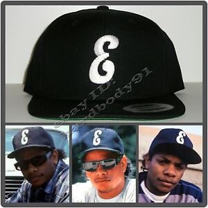 ea52c276d Details about Brand NEW Black Eazy E Letter E Snapback Hat Cap NWA Straight  Outta Compton