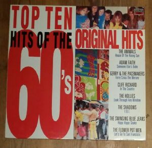 Various-Top-Ten-Hits-Of-The-60-039-s-Vinyl-LP-Compilation-33rpm-1988-MFP-5822