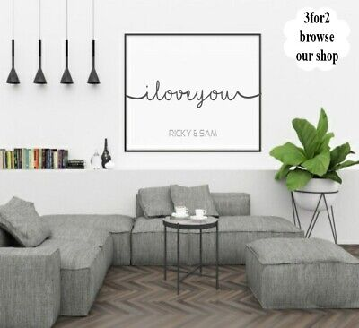 Wall Quote Print Personalised Initials Couple Love Romance Home Gift *3for2*