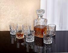 Crystal Whiskey Bar Set Decanter Glass Bourbon Scotch 6 DOF Glasses Liquor 7 pcs
