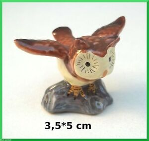 Chouette Prend Son Envol,miniature En Porcelaine,collection, Vitrine,uil A1-05 Apxkctyc-08002926-967632151