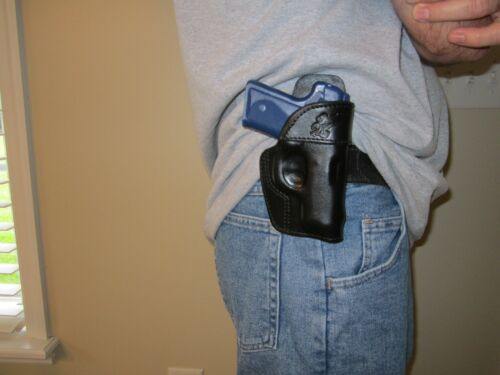 KIMBER SOLO CARRY 9MM PADDLE HOLSTER,FORMED LEATHER OWB HOLSTER RIGHT HAND