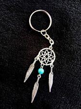 Dream Catcher Keyring Pendant Turquoise Bead Feather Native Key Chain UK