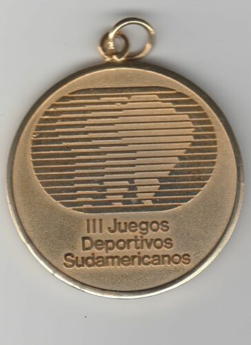 Orig.participant medal III.South American Games CHILE 1986 ATHLET! RARITY