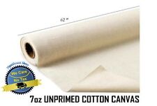 "UNPRIMED COTTON CANVAS ROLL 5.5 MTR 152cm 12oz // 60/"" 6Yards"