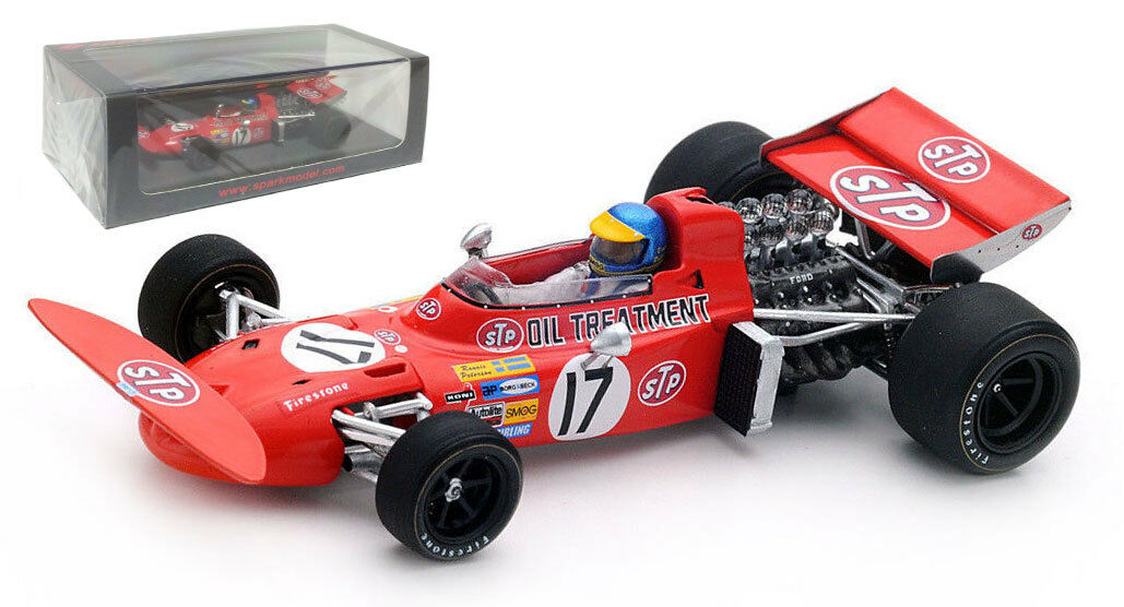 Spark S5360 711 de marzo 'STP' 2nd Monaco GP 1971-Ronnie Peterson escala 1 43