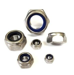 Pack of 20 A2 NYLOC Nuts Stainless Steel 4mm Lock M4 Type-T
