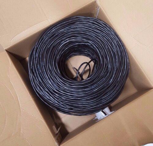 Bulk Cat6 Cable Plenum 1000 ft UTP 4Pairs Ethernet Cat 6 Black