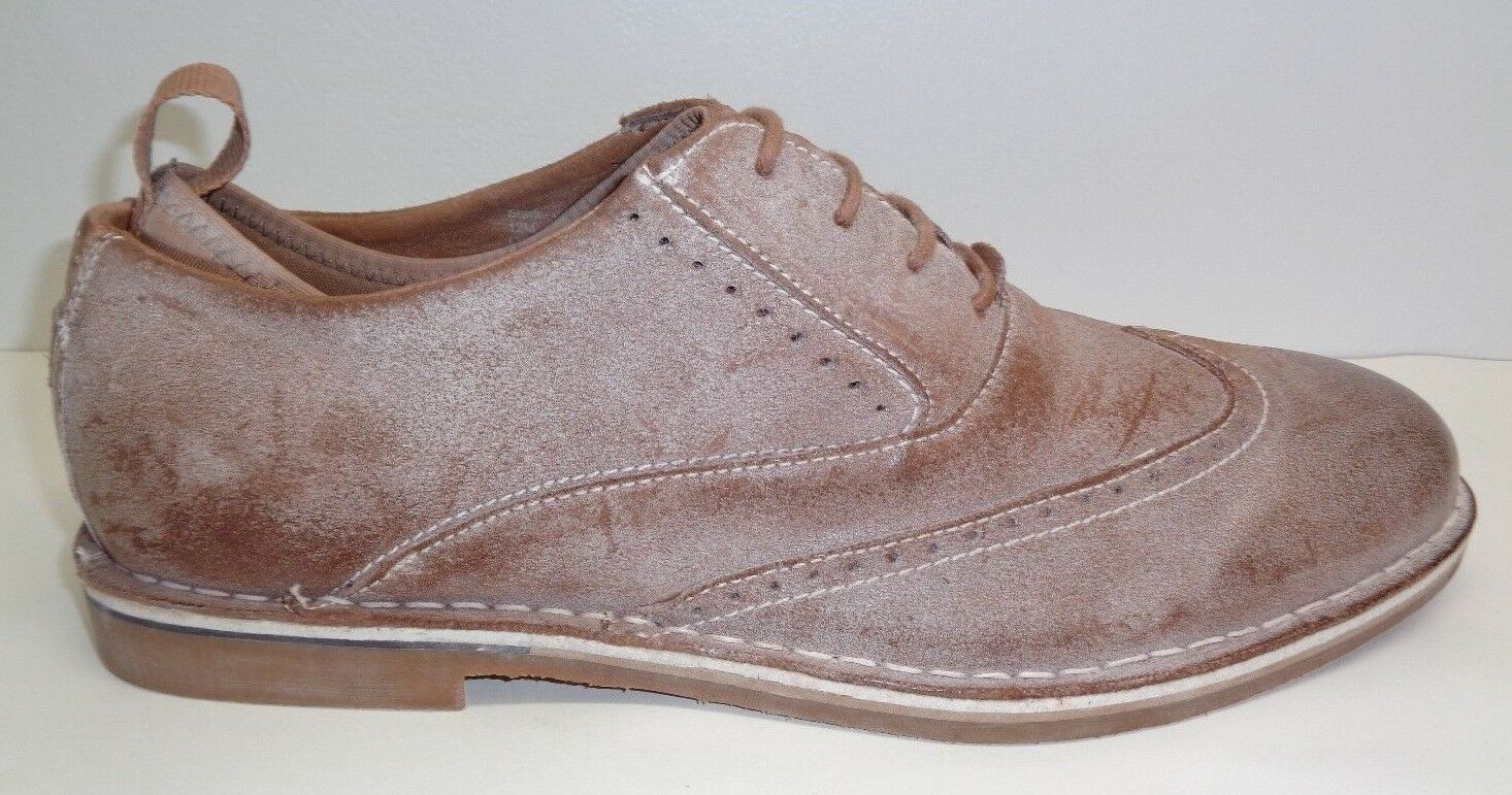 Steve Madden Size 12 M STARK Tan New Distressed Leather Oxfords New Tan Mens Shoes e744f2