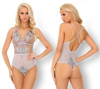 Teddy OBSESSIVE B112 Luxury Super Soft Decorative Fishnet Crotchless Body