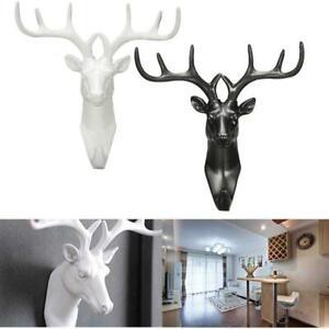 Animal-Deer-Stags-Head-Hook-Hanger-Rack-Holder-Wall-Mount-Home-Decor-Sticker-Q