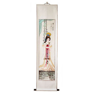 Peinture-chinoise-tableau-chinois-a-suspendre-dame-chinoise