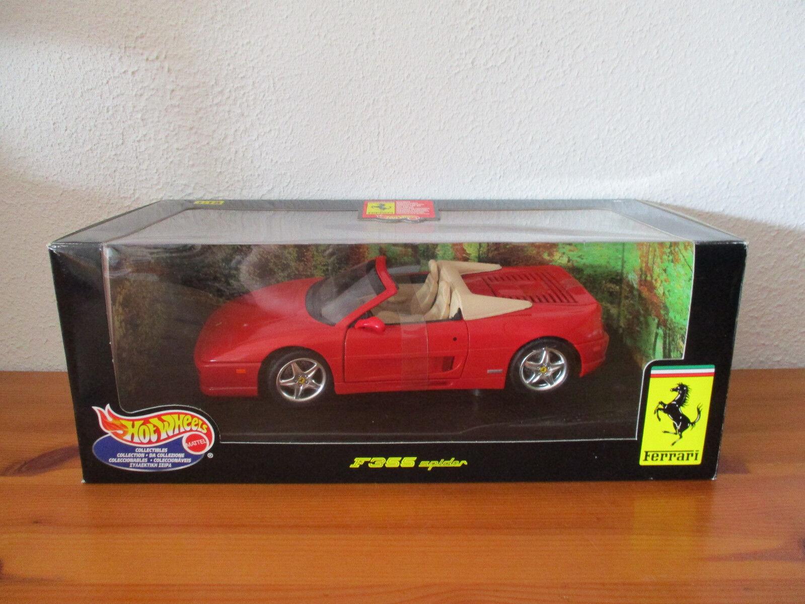 (Go) 1 18 Hot Wheels Ferrari Ferrari Ferrari F355 RAGNO NUOVO conf. orig. 6ccadf