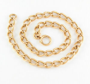 Antique-Victorian-15Ct-Rosey-Gold-Chain-Necklace-16-inches-50-9grams