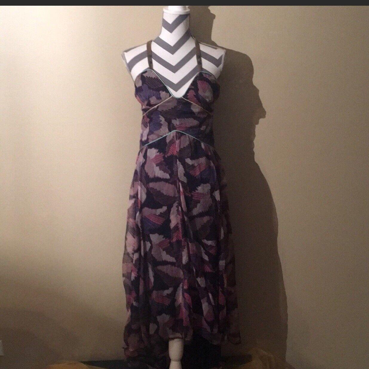 High Low Diesel silk dress - asymmetrical size XS
