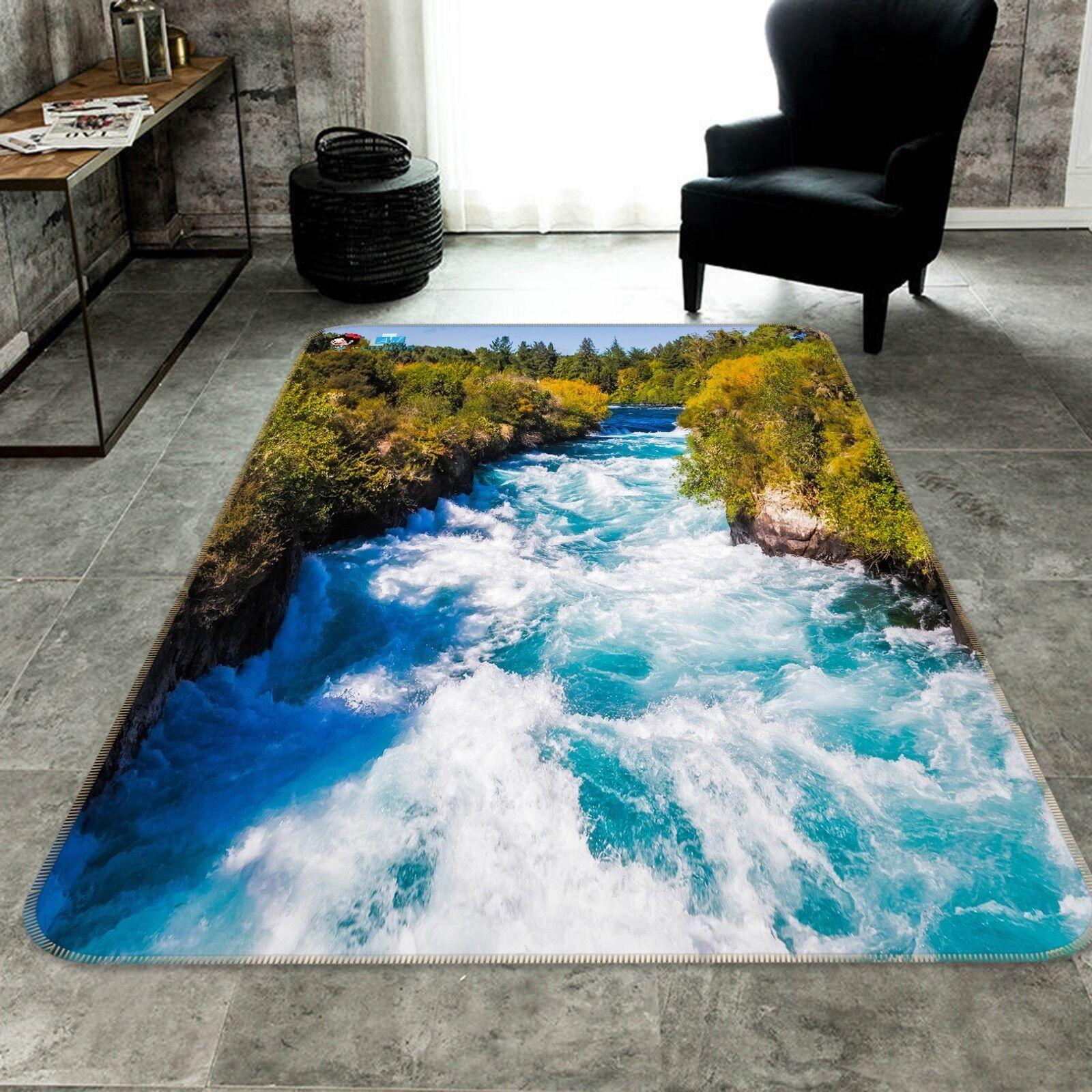 3D Reicher Fluss Rutschfest Teppich Matte Raum Matte Qualität Elegant Teppich DE