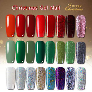 Details about 12ml Christmas Color Gel Nail Polish Glitter Soak Off UV LED  Varnish Green Red