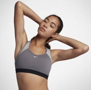 fd11796677e Details about BRAND NEW  65 Nike Nike Women s Motion Adapt Sports Bra -  Grey Red White Small S
