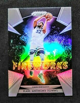 2018-19 Panini Prizm Fireworks Prizms Fast Break #28 Karl-Anthony Towns Minnesota Timberwolves Basketball Card